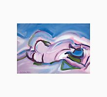 Abstract Reclining Male Nude Womens Fitted T-Shirt