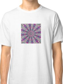 Totem Kaleidoscope In Blue Pink and Purple Classic T-Shirt