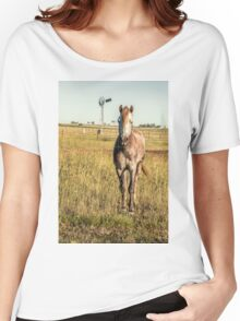 Horse in the countryside  Women's Relaxed Fit T-Shirt