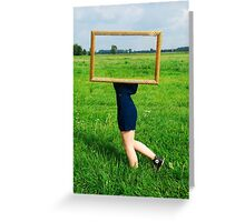 Surrealistic picture frame Greeting Card
