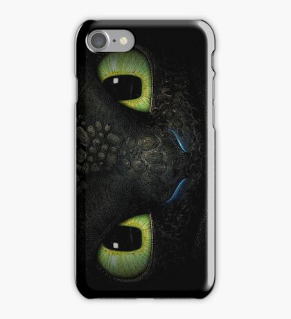 Awesome dragon face. Transparent vectorial design. iPhone Case/Skin