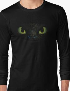 Awesome dragon face. Transparent vectorial design. Long Sleeve T-Shirt