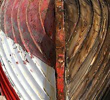 Upturned boat at Dunbar, Scotland by Ardenslate