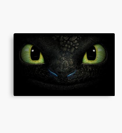 Awesome dragon face. Transparent vectorial design. Canvas Print