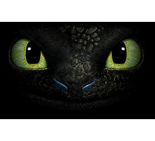 Awesome dragon face. Transparent vectorial design. Photographic Print