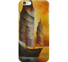 Golden Chinese Junk In Shades Of Ochre and Umber iPhone Case/Skin