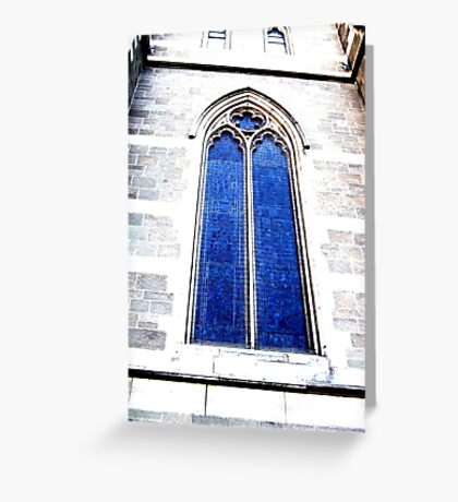 Arched window of a church in Melbourne. Greeting Card