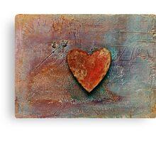 Rusty Heart Canvas Print