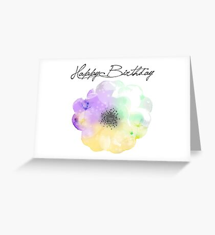 Abstract Flower Birthday Card Greeting Card