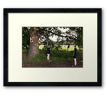 Frame twins Framed Print