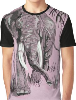 Pink Elephant Graphic T-Shirt