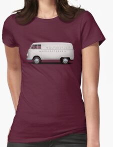 1949 Volkswagen Type 2 Prototype - Silver White Womens Fitted T-Shirt