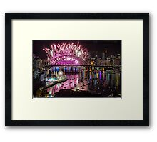 Sydney NYE Fireworks 2015 # 2 Framed Print