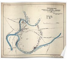 Civil War Maps 1864 Topographical sketch of the vicinity of Kingston Tennessee Poster