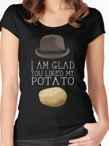 'I am glad you liked my potato' BBC Sherlock Print Women's Fitted Scoop T-Shirt