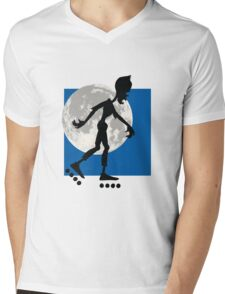 Friendly Zombie - roller-skates Mens V-Neck T-Shirt