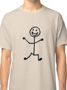 Happy Stick Man Classic T-Shirt