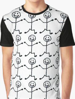 Happy Stick Man Graphic T-Shirt