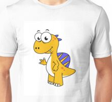 Cute illustration of a Spinosaurus. Unisex T-Shirt