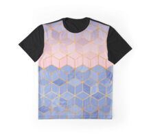 Rose Quartz & Serenity Graphic T-Shirt