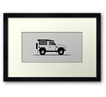 A Graphical Interpretation of the Defender 90 Station Wagon 2,000,000 Framed Print
