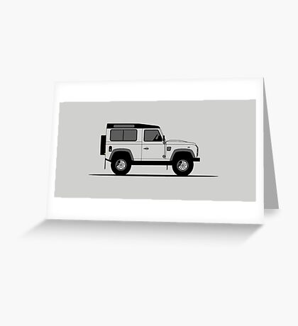 A Graphical Interpretation of the Defender 90 Station Wagon 2,000,000 Greeting Card