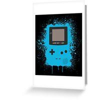 GameboyColor Splatter Blue Greeting Card