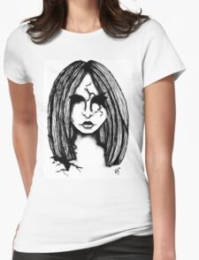 Cracked Doll Womens Fitted T-Shirt