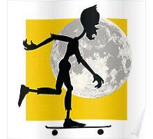 Friendly Zombie - longboard Poster