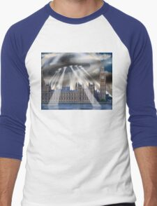 UFO Over London Men's Baseball ¾ T-Shirt