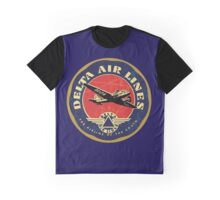 Vintage Delta Airlines sign Graphic T-Shirt