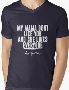 Love Yourself Quote - White Text Mens V-Neck T-Shirt