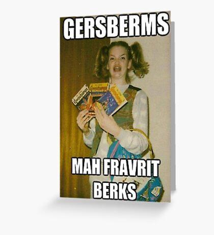 Gersberms Greeting Card