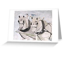 Percheron Teamwork  Greeting Card