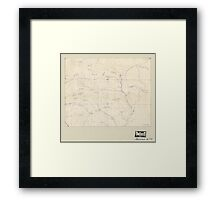 Civil War Maps 2076 Map of the Big Black River Mississippi in the vicinity of Bush and Birdsong's ferries 1863 Framed Print