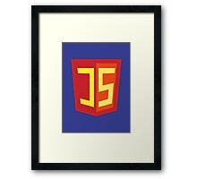 JS Supercoder - Superman Parody for JavaScript Programmers Framed Print