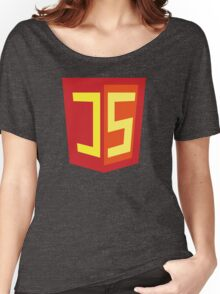 JS Supercoder - Superman Parody for JavaScript Programmers Women's Relaxed Fit T-Shirt