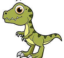 Cute illustration of a Tyrannosaurus Rex. by StocktrekImages