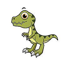 Cute illustration of a Tyrannosaurus Rex. Photographic Print