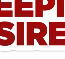 Sleeping with sirens red band Sticker