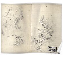Civil War Maps 2196 Preliminary sketch of a portion of the Belle Grove or Cedar Creek battlefield area Poster