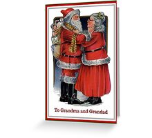 To Grandma and Grandad Mr and Mrs Claus Christmas Card Greeting Card