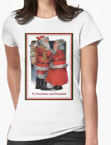 To Grandma and Grandad Mr and Mrs Claus Christmas Card T-Shirt