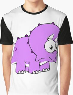 Cute illustration of a Triceratops. Graphic T-Shirt