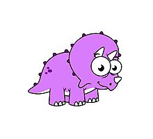 Cute illustration of a Triceratops. Photographic Print
