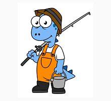 Illustration of an Allosaurus fisherman. Unisex T-Shirt