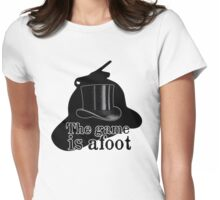 The game is afoot Womens Fitted T-Shirt