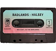Halsey Badlands Cassette Tape Photographic Print