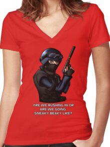 CSGO CT Women's Fitted V-Neck T-Shirt