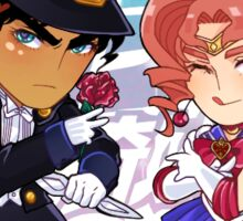 JJBA/Sailor Moon Jotakak Crossover Sticker Sticker